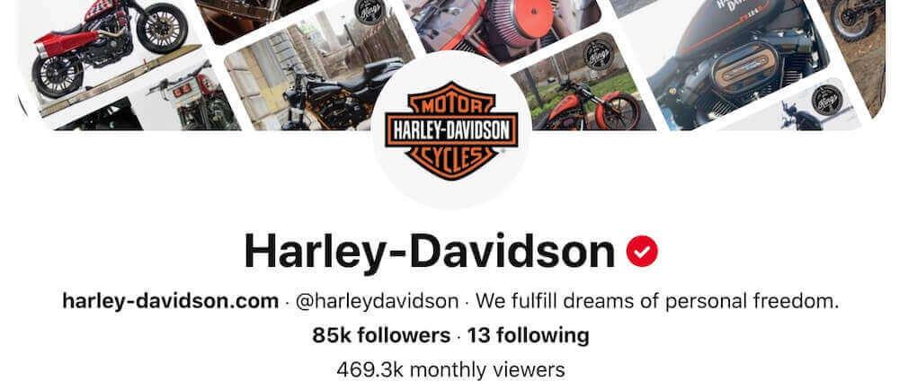 Harley-Davidson Pinterest