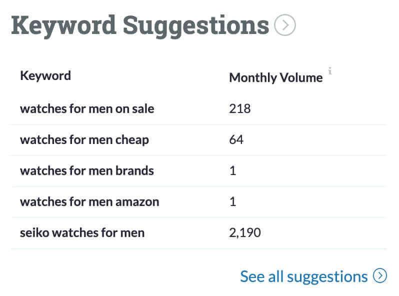 Moz Keyword Suggestions