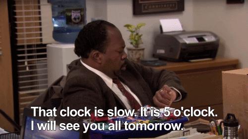 That clock is slow. Stanley meme