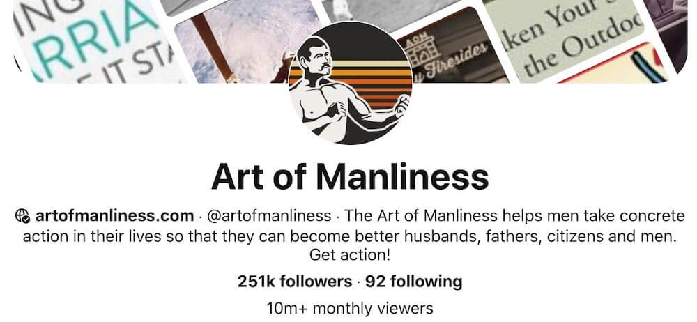 The Art of Manliness Pinterest
