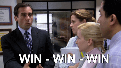 WIN-WIN-WIN. The Office meme