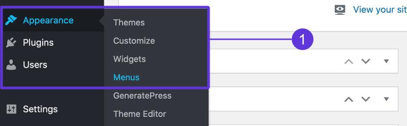Adding WordPress menus