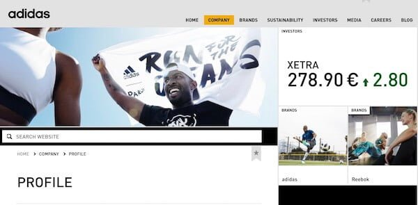 Adidas About Page