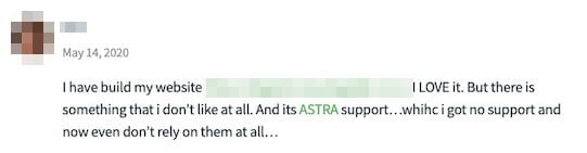Astra Theme Comment 1
