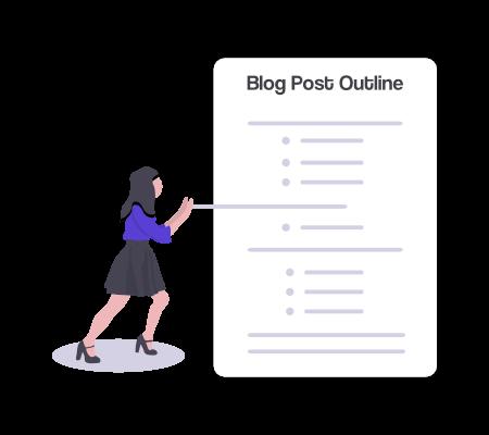 Blog post outline illustration