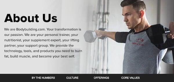 Bodybuilding.com About page