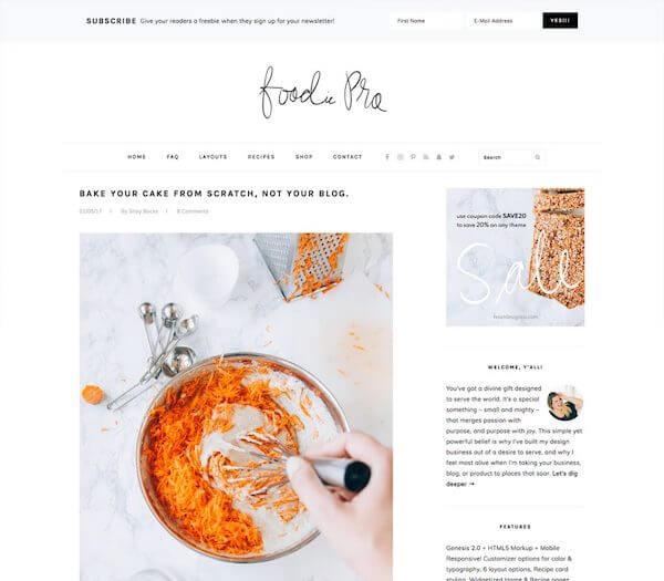 Foodie Pro Theme - StudioPress