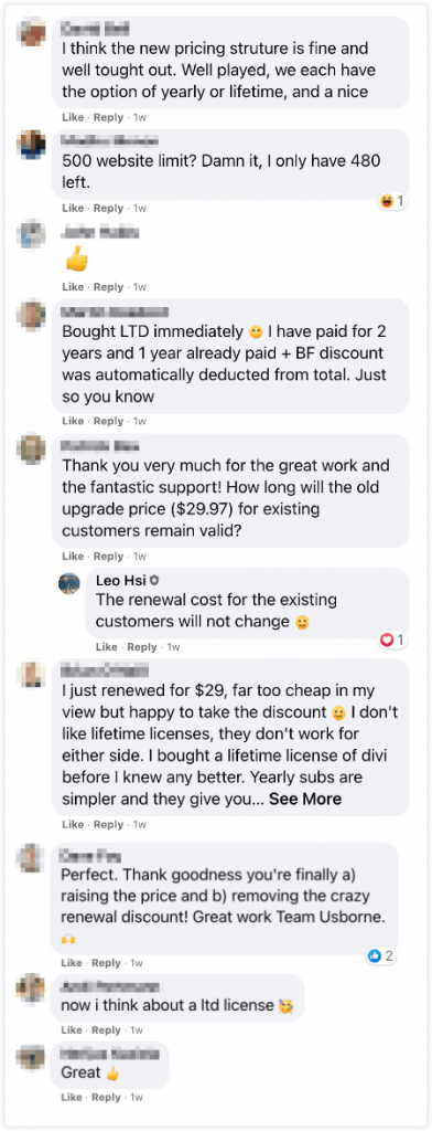 GeneratePress pricing comments 2