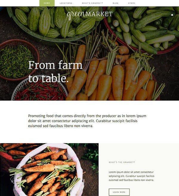 Green Market Artisan Template