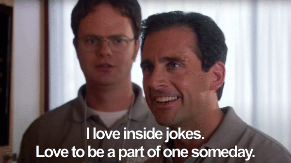 Inside joke Michael Scott meme
