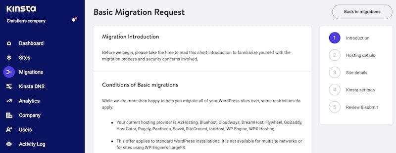 Migration introduction