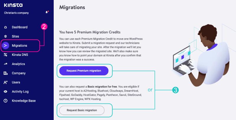 Request migration
