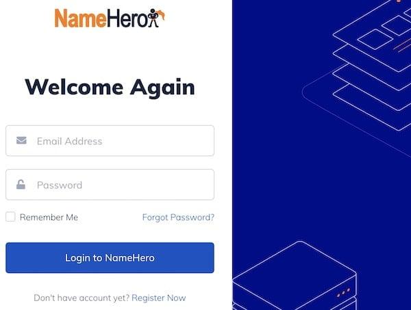 NameHero client area login