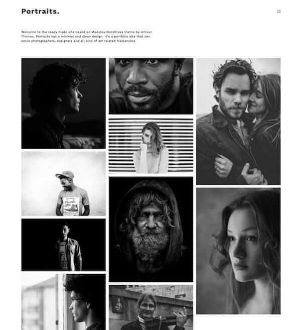 Portraits Artisan Template