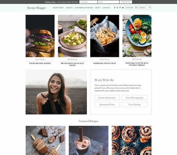 Recipe Blogger Theme - StudioPress