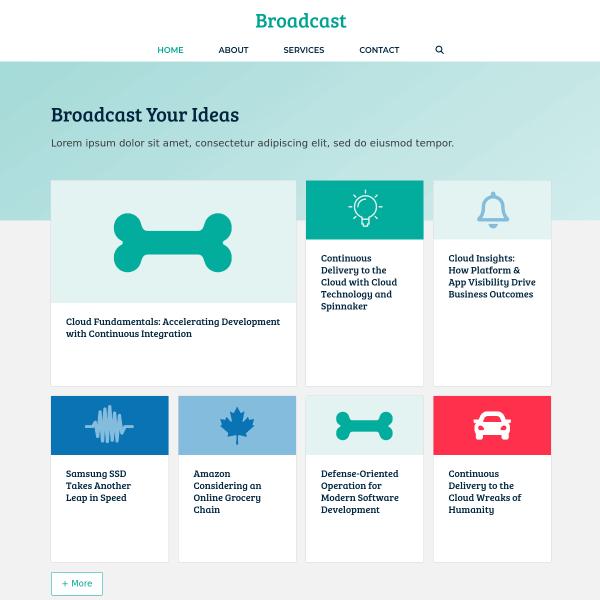 Broadcast template