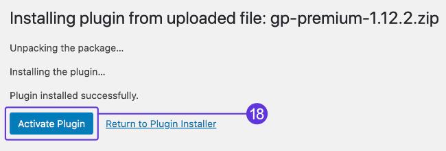 Activate GPP plugin