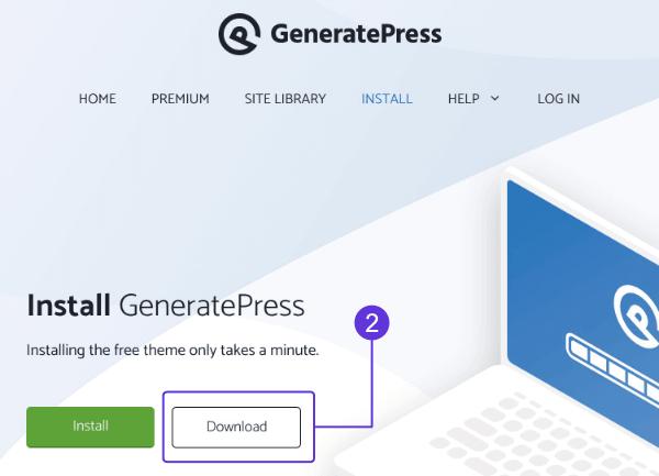 Download GeneratePress