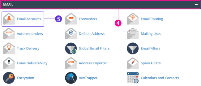 Email tab