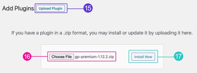 Upload and install GPP