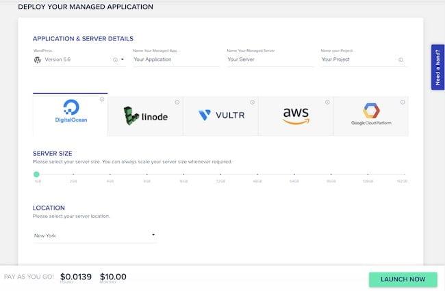 Application and server details