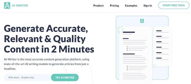 AI-Writer Screenshot