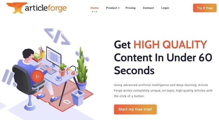 Article Forge Screenshot