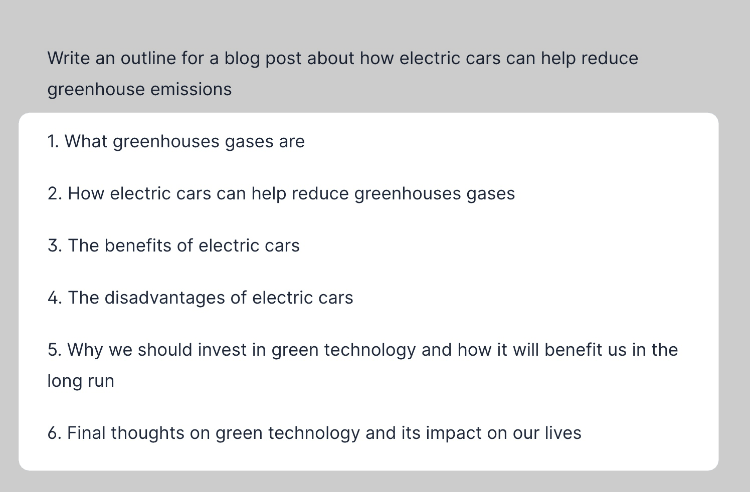 Electric car outline generated by Jarvis
