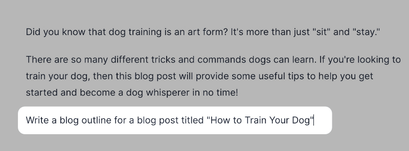 Generate blog post outline