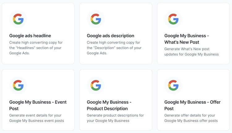 Google Templates by Jarvis