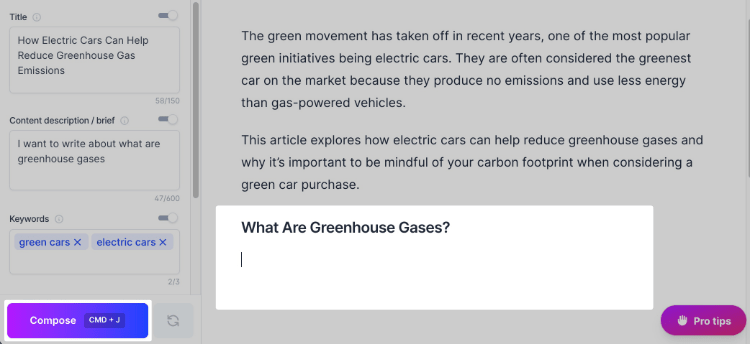 Greenhouse Gases Compose