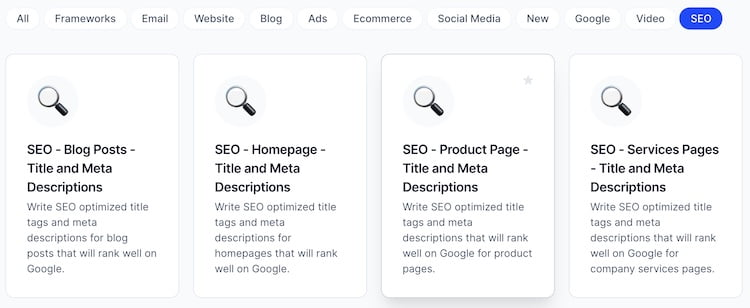 SEO Templates by Jarvis