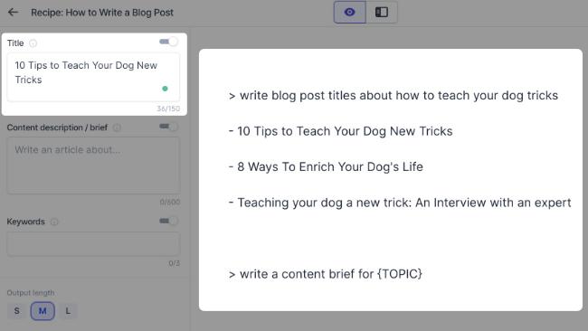 Generate blog post titles