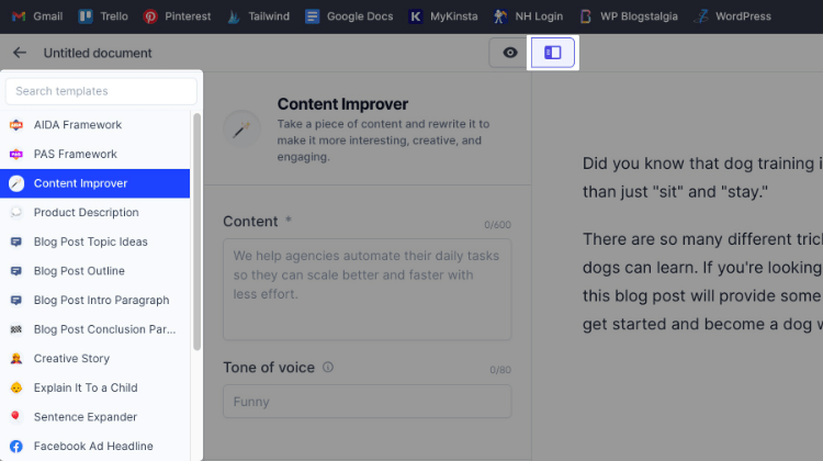 Power mode with Content Improver