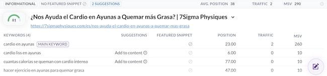 Results in Spanish