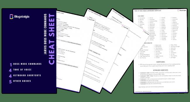 Jarvis cheat sheet printable PDF
