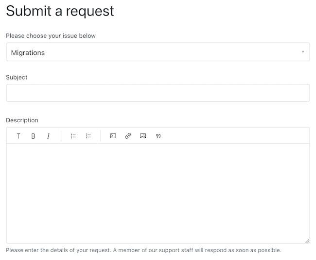 Migration request