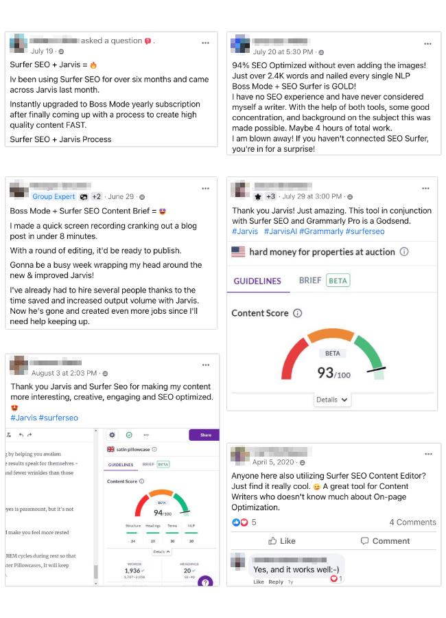 Surfer SEO reviews