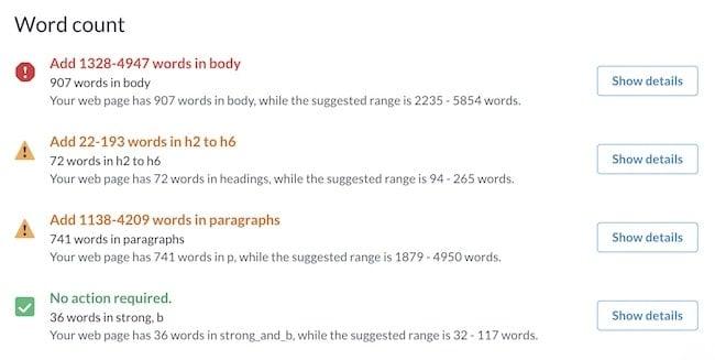 Word Count report